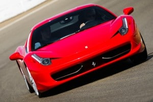 Red Ferrari 458 Italia sports car